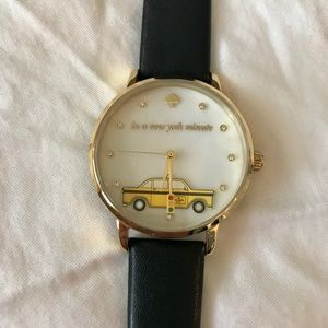 Kate Spade Metro Taxi Leather Strap Watch, 34mm